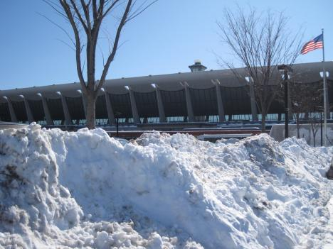 Sunny skies allowed D.C. area airports to reopen Thursday after Wednesday's whiteout conditions.