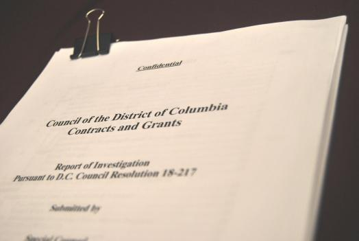 The 107-page special report on the contracting scandal involving D.C. Council Member Marion Barry.
