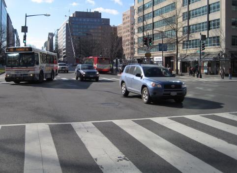 The Federal Transit Administration declined to give D.C. money to create dedicated bus lanes on K Street downtown, but it didn't say why. That's prompted some speculation.