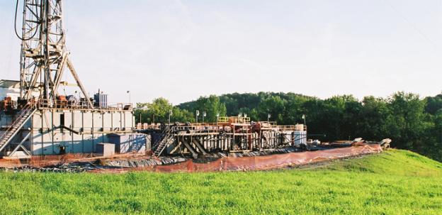 "A natural gas production facility in Central New York which makes use of the controversial hydraulic fracturing or ""fracking"" process."