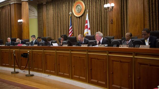 The D.C. Council questioned Mayor Vincent Gray on the details of his budget March 27.