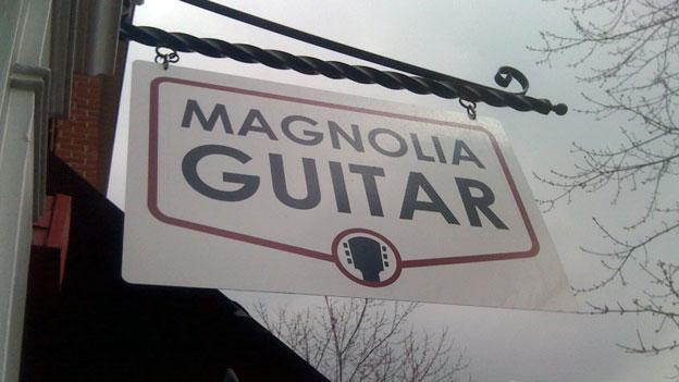 Dan Magnolia was able to finally install this sign at his business in South Arlington, but not without some headache.