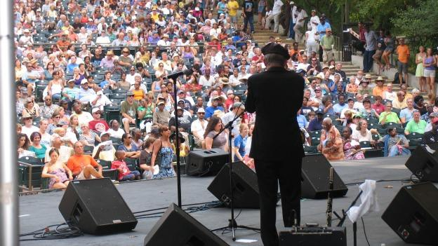 Audience members at last year's Annual DC Blues Festival enjoy a free performance.