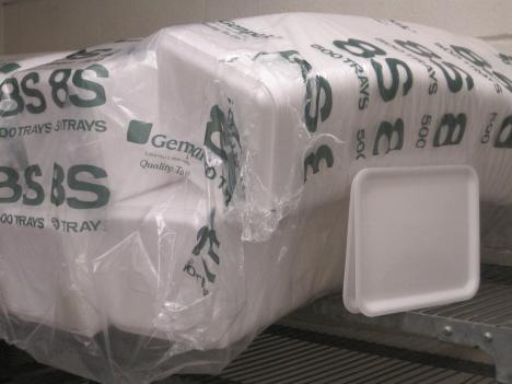 Each year, Montgomery County spends approximately $270,000.00 on Styrofoam lunch trays.