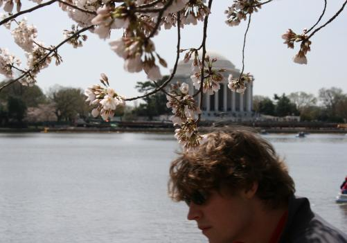 Thousands of residents flocked to the Tidal Basin Saturday for opening day of the annual Cherry Blossom Festival.