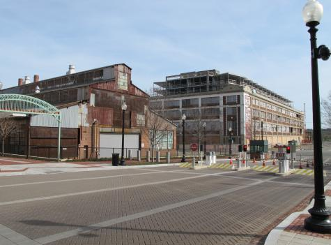 A former industrial building where boilers for Navy ships were manufactured. The Capitol Riverfront revitalization strategy includes a plan to transform the building into retail and office space.