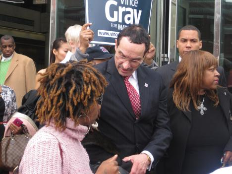 D.C. Council Chairman Vincent Gray is running for mayor.