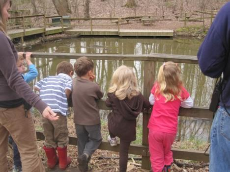Nature is the classroom for students at the Audubon Nature Preschool in Chevy Chase, MD.