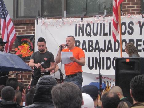 More than 200 Alexandria residents turned out in the rain to press for immigration reform.