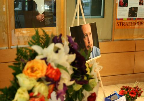 Friends of killed principal Brian Betts celebrated his memory with a memorial at the Strathmore Arts Center Saturday.