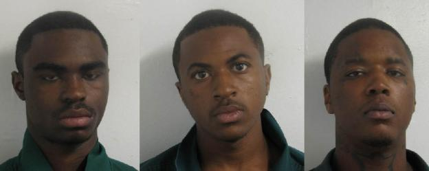 The three suspects, Sharif Lancaster, Deontra Gray, and Alante Saunders have lengthy criminal histories.
