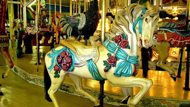 Trimper's carousel has gone around on the Ocean City boardwalk for over a century.
