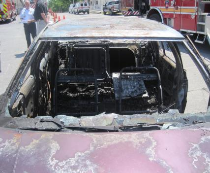 Fire authorities in Montgomery County are warning of an increase in vehicle arsons, like this one, in the county.
