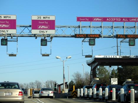 Virginia is seeking the federal government's permission to build a toll plaza on I-95 near the North Carolina border.
