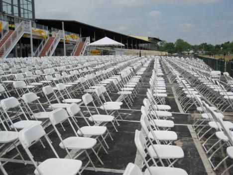 Event organizers hope to draw 100,000 people this weekend to the 2010 Preakness Stakes.