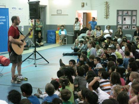 "Award-winning children's musician Billy Jonas treated Patrick Henry Elementary students to a sing-along concert with ""safe listening"" as the theme."