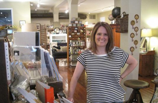 "Amy Rutherford, owner of the Red Barn Mercantile Exchange, hopes the power of social media and the new ""ShopLocalAlexandria"" blog can push more Alexandrians to shop in the neighborhood."