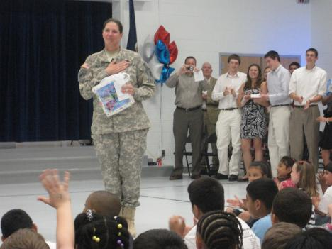 Lt. Col. Melanie McLure, a Lt. Col. in the Army Reserves, served as a logistician in Iraq.