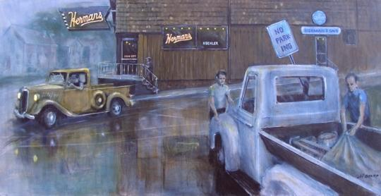 Fairfax artist Herb Beard's show is on display through October 7th, 2008, capturing a glimpse of American life circa 1940.