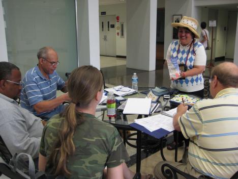 Maricar Donato trains aspiring guides for the D.C. License Exam.