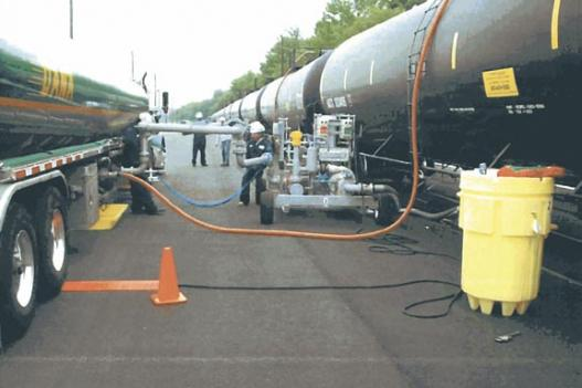 Norfolk Southern owns the rail yard where liquid ethanol is pumped from rail cars to tanker trucks.