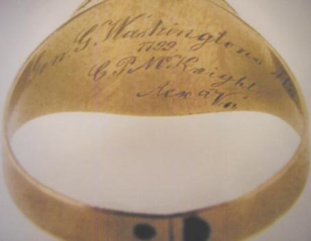 Unlike most mourning jewelry, this ring bears an inscription identifying the owner.