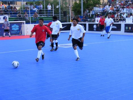 Teams of homeless players from across the country face off in downtown D.C. as part of the 2010 Street Soccer U.S.A. Cup.
