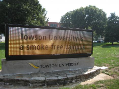 Towson University is the first public four-year college in Maryland to go entirely smoke-free.