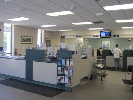 The DMV in Tysons Corner is eerily quiet. A statewide computer meltdown is preventing all DMVs in Virginia from processing licenses and ID cards.