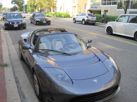 Motorists will soon be able to purchase this car, the Tesla Roadster, in downtown D.C. It has a fully electric, 288 horsepower engine.