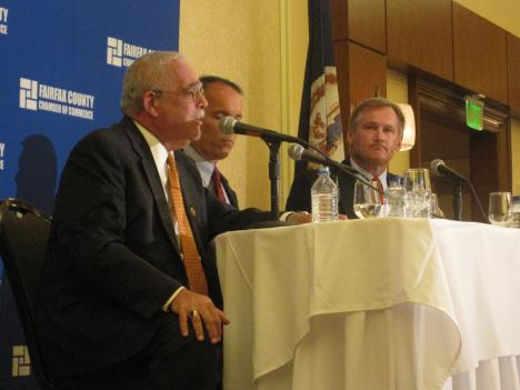 Rep. Gerry Connolly (D-Va.) (far left) and Republican Keith Fimian (far right) faced off two years ago. Connolly defeated Fimian in that election by 12 percentage points.