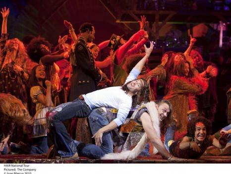 "The musical ""HAIR"" is playing at the Kennedy Center through Nov. 21."