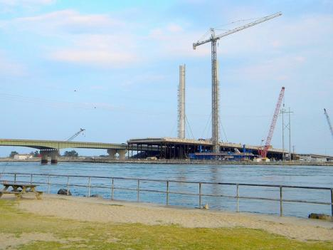 The new bridge is still in progress, and the Army Corps of Engineers says the inlet itslef needs additional stabilization.