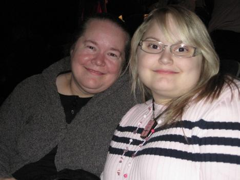 """Glenda Teasley and her daughter Rachel, who has an auto-immune condition, attend the American Dance Institute's presentation of """"The Nutcracker."""""""