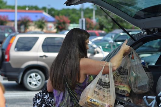 Montgomery County will start charging 5 cents per bag in 2012.