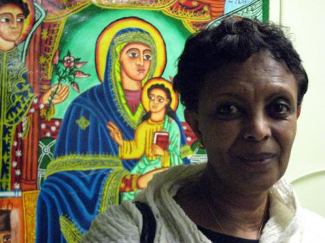 Amaretch Tademe says though she celebrates the European and Ethiopian Orthodox Christmases with her family in Silver Spring, Md., she hopes her children will carry on the old traditions from her home country.