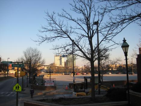 This two-acre parking lot is the last major parcel of land yet to be developed along Baltimore's Inner Harbor.
