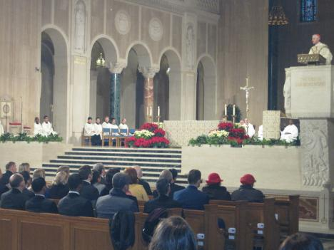 "Cardinal Donald Wuerl, archbishop of Washington, celebrates the ""Mass of Remembrance"" at the Basilica of the National Shrine."