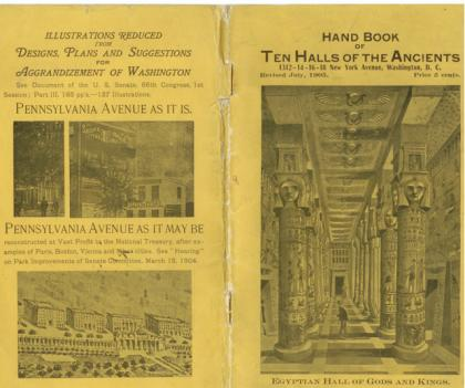 Francis Webster Smith's brochure for the Halls of the Ancients.