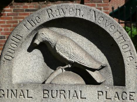 Edgar Allan Poe's grave is in Westminster Burying Grounds in Baltimore, Md.