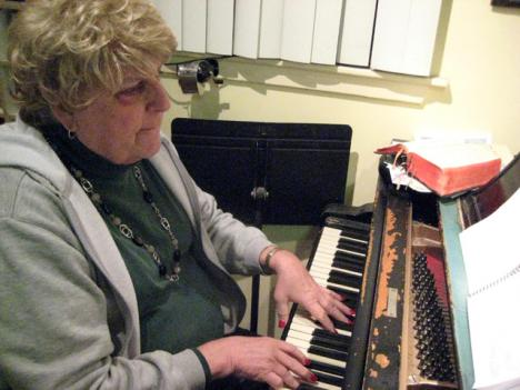 As a lifelong musician, Colleen Fay composes music and sings baritone in various local church and synagogue choirs. Colleen Fay was Peter Fay, until she transitioned from male to female at age 63.