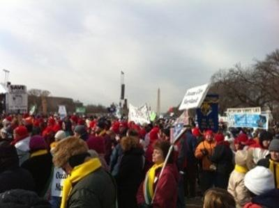 "Thousands of pro-life protesters participated in the 37th-annual ""March for Life"" in D.C."
