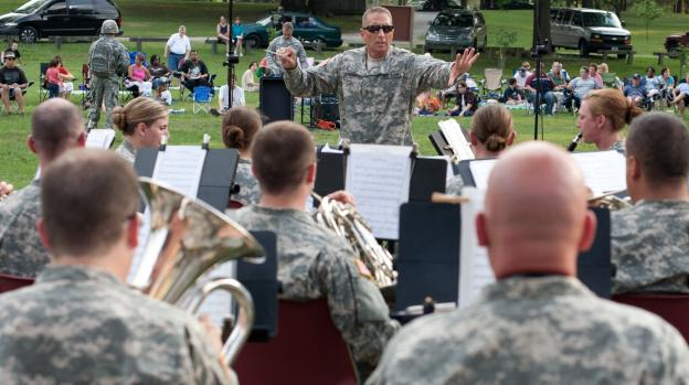 The U.S. Army Field Band is based on Fort Meade. They travel all over the world as musical ambassadors of the U.S. Army.