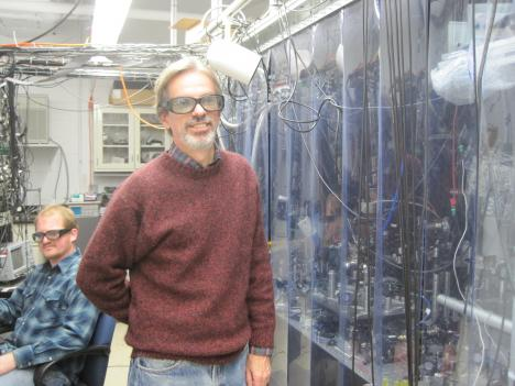 University of Maryland scientist Steve Rolston in his lab on campus.