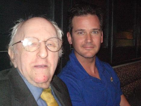 "Ben Carver (right) started the ""Buy Frank a Drink"" campaign to help gay-rights pioneer Frank Kameny (left) with his financial woes."