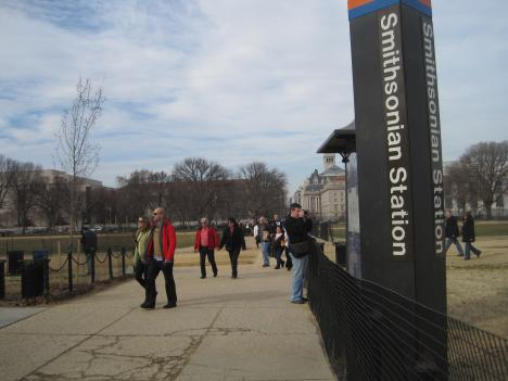 The Smithsonian Metro Station is ground zero for transit-savvy tourists.