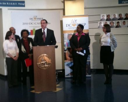 Mayor Vincent Gray speaks at a press conference Monday.