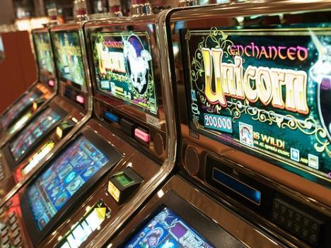 Las Vegas slot machines.