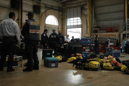 Virginia Task Force 1 brought 75 tons of rescue equipment and six dogs to help look for survivors in Japan.