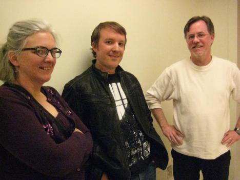 Active Cultures Artistic Director Mary Resing, playwright Steve Spotswood and Director Tom Prewitt.